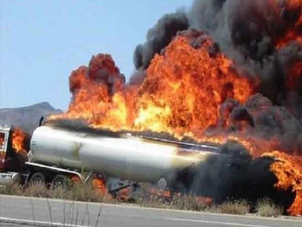 انفجار تانکر سوخت در سنندج حادثه آفرید